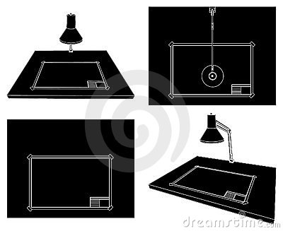 Drawing Table Vector 01