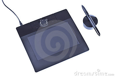 Drawing tablet with pen