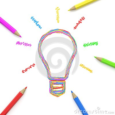 Free Drawing Together An Idea, Crowdsourcing Concept Stock Image - 124549821