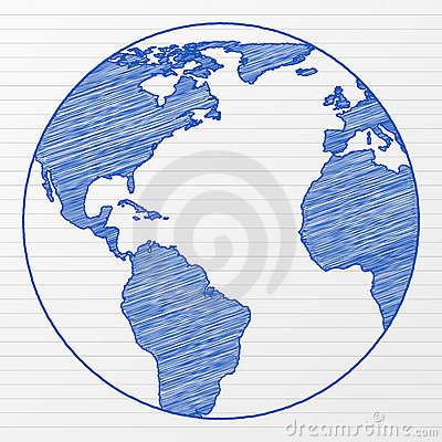 Drawing world globe 5