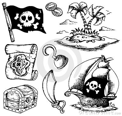 Drawings with pirate theme 1