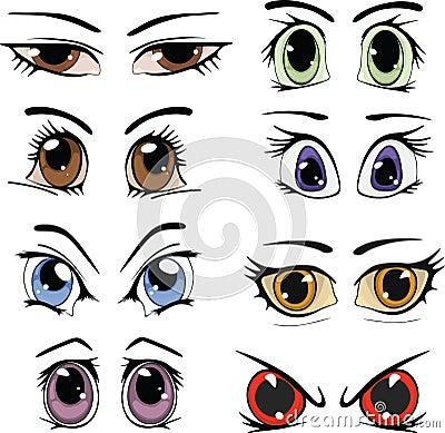 Drawn eyes