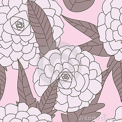 Drawn Flowers Seamless Pattern_eps