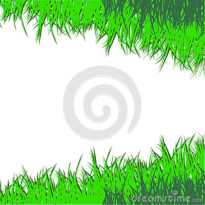 The drawn green grass.Vector illustration