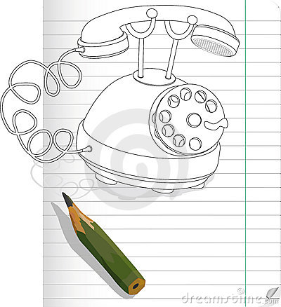 Drawn phone