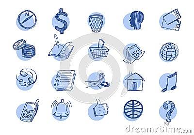 Drawn web  icons