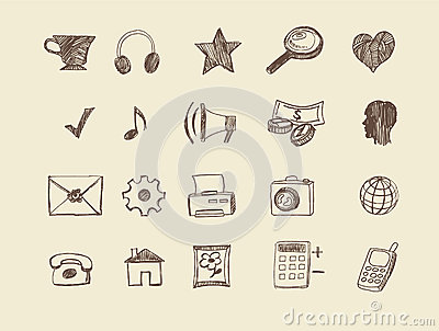 Drawn web  icons