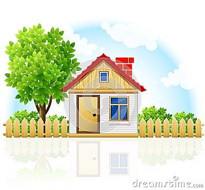 Drawning domowy intymny mały drzewny drewniany