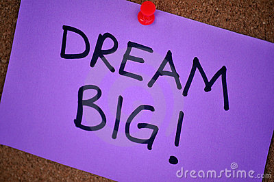 Dream Big Note On Pinboard