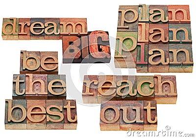 Dream big, plan, reach out