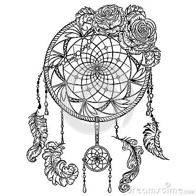 detailed dream catcher coloring pages - photo#23