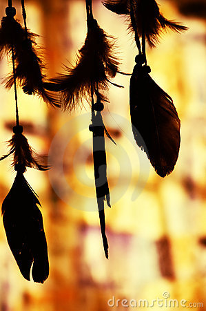 Dream catcher silhouette