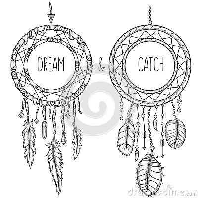 Free Dream Catchers. Native American Traditional Symbol Stock Photography - 60946822