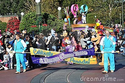 A Dream Come True Celebrate Parade in Disney World Editorial Photo