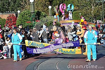 A Dream Come True Celebrate Parade in Disney World Editorial Photo