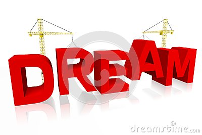 Dream, crane concept, building, buzzword