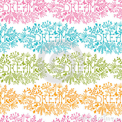 Dream floral damask seamless pattern background