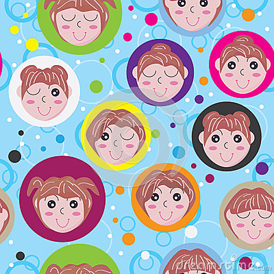 Dream Girl Seamless Pattern_eps