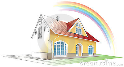 Dream home coming true,rainbow