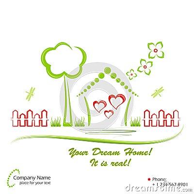 Dream home, vector illustration