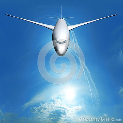 Dream Liner in the sky