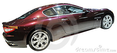 Dream sports coupe isolated