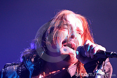 Dream Theater live, James LaBrie Editorial Stock Image