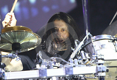 Dream Theater live, Mike Mangini Editorial Photography