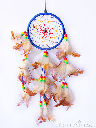 Dreamcatcher isolated in white