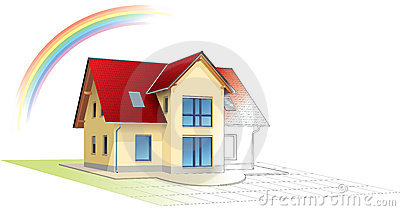 Dreamed home becoming real,rainbow