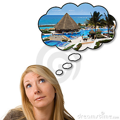 Dreaming of holiday vacation