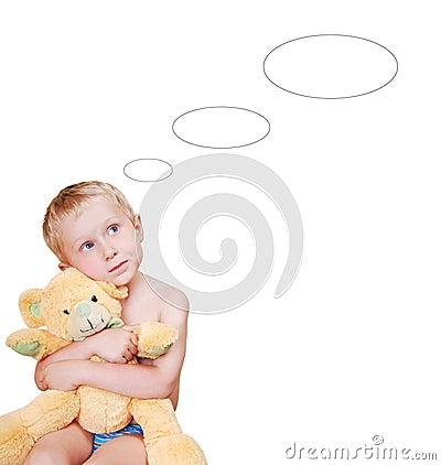 Dreaming little boy