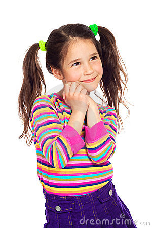 Free Dreaming Little Girl Looking Away Royalty Free Stock Photo - 20098725