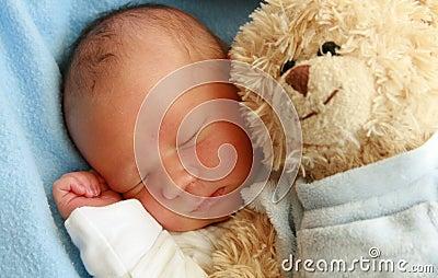 Dreaming newborn baby