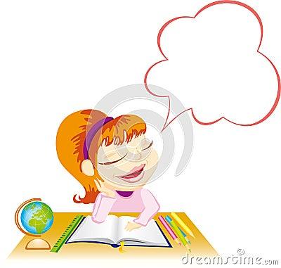 Dreaming schoolgirl
