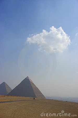 Dreamlike Scene of the Great Pyramid at Giza