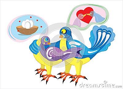 Dreams of birds in love.