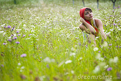 Young Woman in Meadow