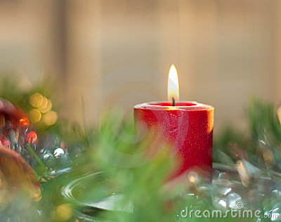 Dreamy image of a Christmas candle