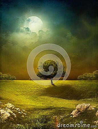 Free Dreamy Landscape Stock Photo - 37018910