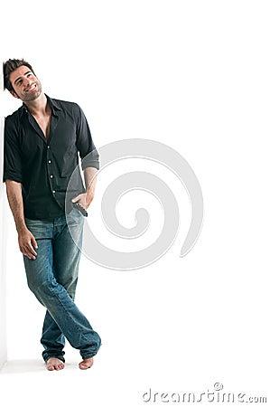 Free Dreamy Latin Man Stock Image - 10598551
