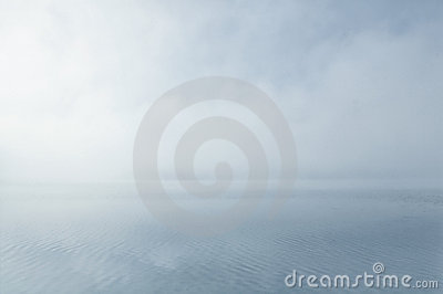 Dreamy misty water scenery