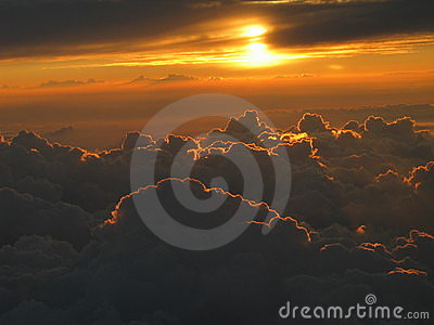 Dreamy Sunset Above The Clouds