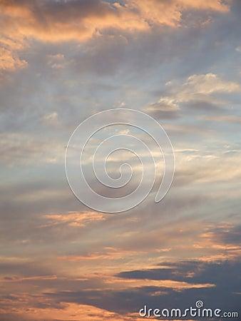 Dreamy sunset sky