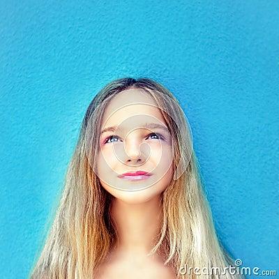 dreamy teen girl