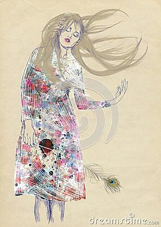 Dreamy woman