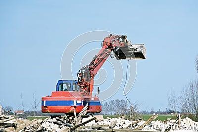 Dredge at demolition site