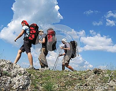 Drei Bergsteiger 1