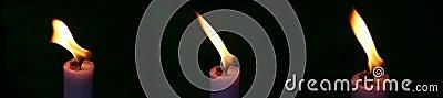 Drei Kerze