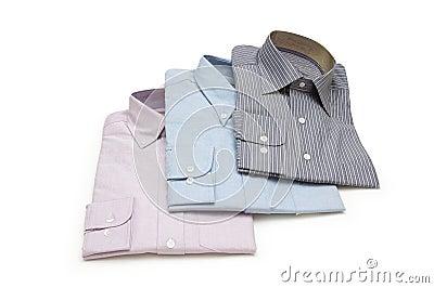 Drei packten die getrennten Hemden